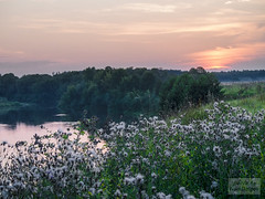 Country Sunset (ivan.dolgoff) Tags: olympusepl3 russia landscapes country village sunset fog river