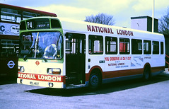 Slide 101-77 (Steve Guess) Tags: lewisham london england gb uk bus lcbs country snb national advert routep4 regional transport lrt contract tendered bpl483t snb483