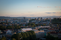 Sunset View of Oslo (jens.gothilander) Tags: oslo norway sightseeing tourist visitor vacation summer 2017 swede tourism nikon d5500 sky sunset roof top norwegian anker apartments grünerløkka view
