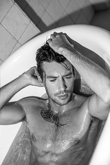 Anthony Lorca by Marius Sminchise (anthonylorca) Tags: anthonylorca mariussminchise paris photoshoot photoshooting bathtub maleportrait malephotography tattoo sexy wethair wet muscle sixpack 6pack fit hairstyle hairy malemodel maleactor