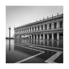 Biblioteca Nazionale Di San Marco (Rohan Reilly Photography) Tags: venice venezia italy acquaalta blackandwhite monochrome square geometry lines architecture fineart landscape cityscape haida