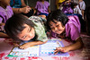 Girls Writing  6159 (Ursula in Aus) Tags: banhuaymaegok banhuaymaegokschool hilltribeeducationprojects maehongson maesariang thep thailand