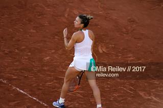 Simona Halep at Roland Garros 2017