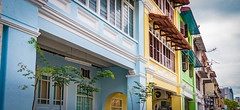 Pastel painted buildings (Stratman² - (Joey and I are both ill )) Tags: canonphotography powershotg1x unescoheritagesite georgetown penang architecture prewarbuildings colorfulworld creativecommons ccbyncnd flickrelite