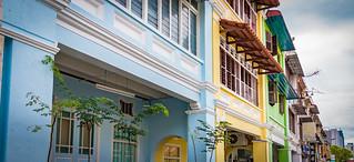 Pastel painted buildings