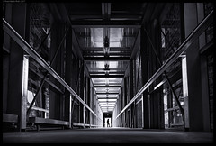 A Dark Vision (frankmartinroth) Tags: 35mm f20 sony rx1r sonnart235 architecture building indoor wide urban lines germany bavaria bw mysterious dark symmetry vanishingpoint gloomy monochrome