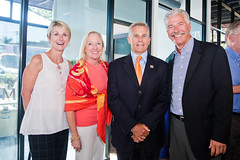 Charmaine Carter, Heidi Hutchinson, Baron Herdelin-Doherty (YMCA Executive Director), Bill Geppert