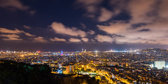 BCN Night (modesrodriguez) Tags: barcelona night nightscape nightphotography city cityscape lights orange blue bluehour clouds longexposure architecture europe spain