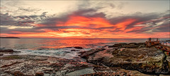 I will be your flame (JustAddVignette) Tags: australia clouds cloudysunrise dawn deewhy flamingsky landscapes newsouthwales northernbeaches ocean panorama reflections rocks seascape seawater sky sun sunrays sunrise sydney water