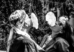 Eating race (A. Yousuf Kurniawan) Tags: race eat food blackandwhite monochrome festival celebration game streetphotography independenceday indonesia frankfurt decisivemoment