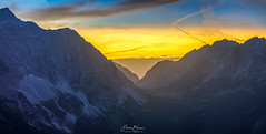 Sonnenuntergang im Karwendel (F!o) Tags: sunset sunrise sonnenuntergang karwendel karwendelspitze falkenhütte samyang sony alpha a7ii 135mm f2 panorama light licht himmel sky ngc