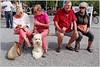 Walking the dog - wearing pink (www.nielsdejgaard.dk) Tags: hund lyserød pink hundeluftning walkingthedog puddelhund poodle streetphotography