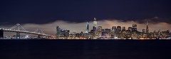 The silken fog (PeterThoeny) Tags: treasureisland sanfrancisco california sanfranciscobay sanfranciscobayarea sanfranciscobaybridge baybridge bay night city skyline cityskyline downtown cloud fog bridge panorama sony sonya7 a7 a7ii a7mii alpha7mii ilce7m2 fullframe fe2870mmf3556oss 2xp raw photomatix hdr qualityhdr qualityhdrphotography fav200 sky water