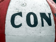 CON (the justified sinner) Tags: justifiedsinner harbour buoy lettering old sign wales north conwy panasonic gh2 gx7 minolta macro rokkor md 50 35