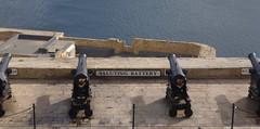 Prepare for a battering (Ben Zabulis) Tags: malta europe valletta sea salutingbattery masonry fort defence stpeterpaulbastion gun limestone stonework 5photosaday fareastexplorer mediterranean cannon mediterraneansea artillery ramparts grandharbour seadefence