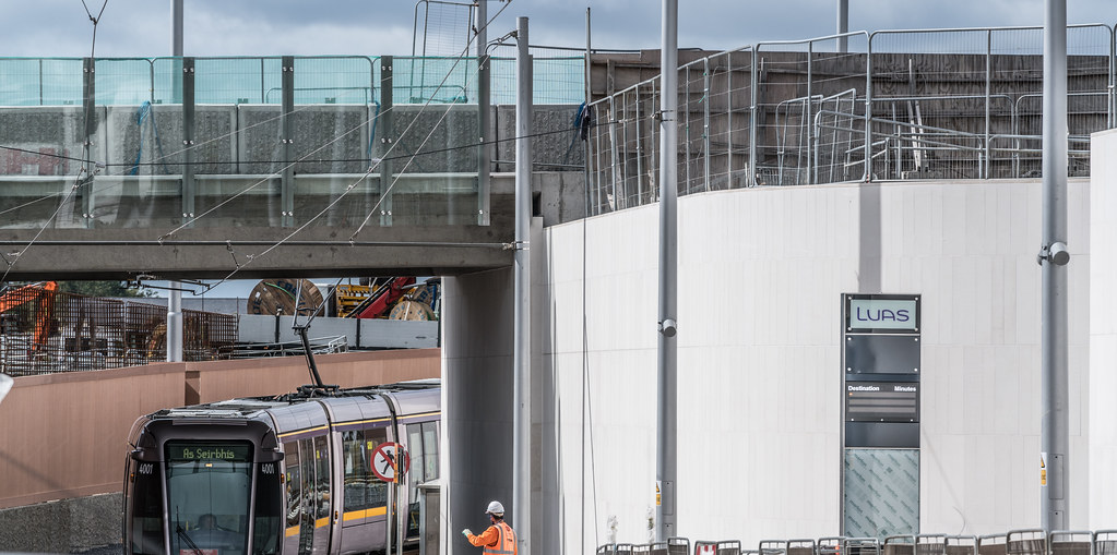 THE NEW LUAS TRAM STOP AT BROADSTONE [TESTING PHASE UNTIL EARLY DECEMBER]-1324697