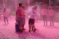 The color run - The pink lane (Red Cathedral uses albums) Tags: sony a6000 eventcoverage sonyalpha mirrorless ocr strongmanrun gladiatorrun colourrun mudrun obstaclerun alpha colorrun thecolorrun holi pink pnk roze powder running girlsrunning race brussel brussels bruxelles tour taxis havenlaan miniskirt
