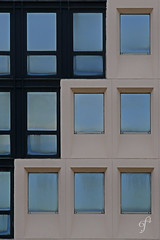 Yin and Yang, today (Giovanni Cappiello   f.64) Tags: new concrete marble urban afternoon smooth architecture city napoli watermark blue abstract window facade black aluminum white italia ita