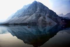 Morning glory (Miradortigre) Tags: canada lago lake banffnationalpark banff icefield parkway alberta reflection reflejos mañana foggy nublosa