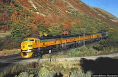 Why Autumn is the BEST Time (jamesbelmont) Tags: railway emd f9a streamliner passenger riogrande drgw zephyr spanishforkcanyon utah