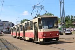 2017-06-21, Kyiv, Vul. Starovkzalna (Fototak) Tags: tram strassenbahn kyiv ukraine tatra ligne3 317 318