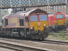 DB Schenker 66134 & 67010 At Doncaster Station (Gary Chatterton 4 million Views) Tags: dbschenker 66134 60010 doncasterstation freighttrains class66 railway train rail railroad traintracks locomotive engine diesel networkrail flickr explore photography amateur class67