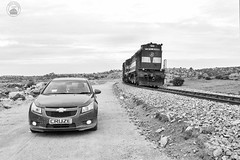 A GTL ALCO with my Car at a remote location :) (cyberdoctorind) Tags: ifttt 500px journey roadside driving hitchhiking dirt road long passenger car alco indian railways locomotives stations yards running ops