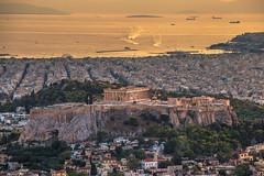 The Acropolis in Athens.Shot taken from Lycabettus hill. (Vagelis Pikoulas) Tags: athens city cityscape sunset capital greece europe acropolis ancient sea seascape landscape september autumn 2017 canon 6d tamron 70200mm view lycabettus