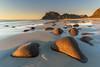 'Hot Rocks' - Uttakleiv, Lofoten, Norway (Kristofer Williams) Tags: beach coast landscape seascape rocks sunset uttakleiv lofoten norway mountain sand water sea
