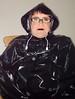Black Plastic Cape (Miss Pakamac) Tags: plasticmac pakamac plasticraincoat plasticmack