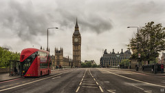 Catching the 211 (BAN - photography) Tags: doubledeckerbus westminsterbridge bigben parliamenthouse pedestrians london d810 clouds