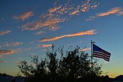 Old Glory (VTX-Rider) Tags: az arizona quartzsite usa flag sunset
