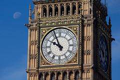 Summers day moon (fotosforfun2) Tags: london bigben clock blue westminsterbridge moon macro architecture summer seasons