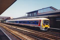 165106 Oxford 12.06.92 (jonf45 - 3 million views-Thank you) Tags: trains railway br british rail network southeast nse 165106 class 165 networker oxford 1992 dmu diesel multiple unit