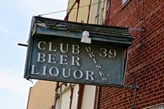Club 39, Lebanon, IN (Robby Virus) Tags: lebanon indiana in zekes club 39 thirtynine beer liquor sign signage drinks booze alcohol bar boone county oldest wood wooden pub tavern