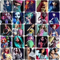 Tag Game: National Portrait Gallery (GreenWorldMiniatures) Tags: monsterhigh barbie taeyang pullip obitsu parabox