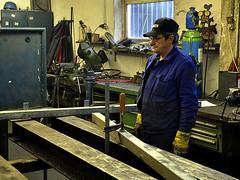 Metalworker thinking about next work step (robárt shake) Tags: metalwork metallbau schlosser schweissen welding schmied werkstatt arbeit arbeiter worker working thinking arbeitskleidung