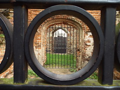 Circle and Archways (annrushworth) Tags: priory building brick circle archway doorway ruin gate fence