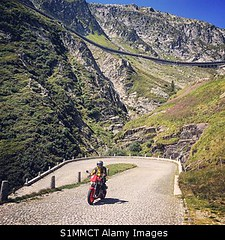Uploaded to Stockimo (oohay!) Tags: stockimo motorcycle switzerland pass road mountain st gothards switchbacks cobblestone route alps