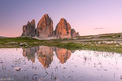 The reflection - Tre Cime (Captures.ch) Tags: 2017 alps black blue brown cloud dolomites dreizinne gras gray italy july lake landscape magenta morning mountains nature orange perfect pink red reflection sky stone sunrise travel trecime water white yellow