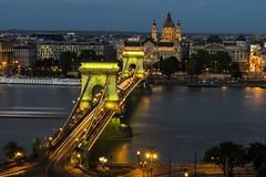Chain bridge (deakb) Tags: nikon d500 sigma 1750 f28 budapest hungary buda castle night city capital chain bridge basilica