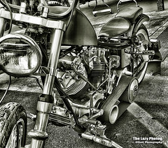 Aug 2 2017 - A means for testing fate - seen in Sturgis (La_Z_Photog) Tags: 080217sturgis lazy photog elliott photography sturgis south dakota black hills motorcycle classic rally races dungeon no primary cover belt driven harley davidson choppers bobbers beer babes tattoos