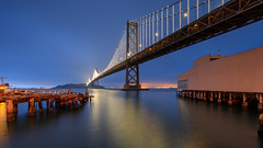 Bay Bridge at Night (Jemlnlx) Tags: canon eos 5d mark iv 4 5div 5d4 san francisco ca california ef 1635mm f4 is usm l bay bridge rincon park point tripod gitzo long exposure water reflection tiffen gnd graduated neutral density filter night evening