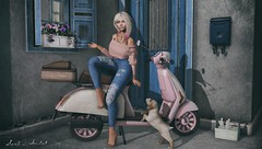 Life was always a matter of waiting for the right moment to act... (Neda Andel ~SLooK4U Blog) Tags: fameshed uber shiny shabby merak fawny candydoll ison rebel hope what next dela sl secondlife slook4u girl blonde jeans puppy 3d blog quote serenitystyle