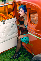 Cinematic Caila (oshcan) Tags: model carshow hotrod portrait woman girl beautiful nikon d4s 85mm14