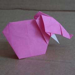 Elephant n°2 by  Hideo Komatsu   [Hideo Komatsu challenge 17/50] (Orizuka) Tags: origami hideokomatsu hkchallenge elephant
