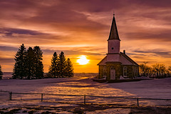 Winter's Beauty (Jeffery A. Smith) Tags: church sunset winterscene nd2017contest scenery placestovisit