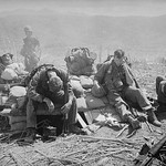 Vietnam War 1967 - Soldiers Resting at a Bunker atop Hill 875 in South Vietnam thumbnail