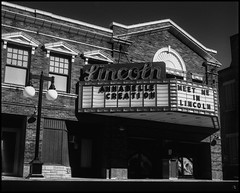 Meet Me in Lincoln, Annabelle (argentography) Tags: lincoln illinois midwest theater marquee yashica 124 superpan xtol monochrome blackandwhite