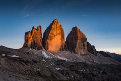 *** (nils_P) Tags: rocks peaks dolomites mountains sunset light sky blue glow